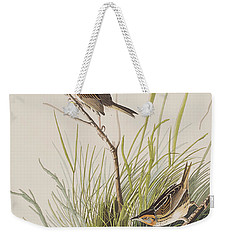 Sharp Tailed Finch Weekender Tote Bag by John James Audubon