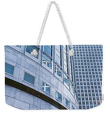 Skyscrapers In A City, Canary Wharf Weekender Tote Bag by Panoramic Images