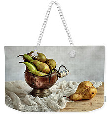 Still-life With Pears Weekender Tote Bag by Nailia Schwarz