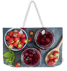 Strawberry Preserve Weekender Tote Bag by Elena Elisseeva