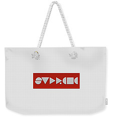 Supreme Being Embroidered Abstract - 1 Of 5 Weekender Tote Bag by Serge Averbukh