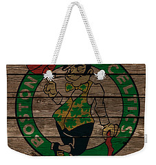 The Boston Celtics 1e Weekender Tote Bag by Brian Reaves