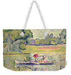 The Promenade In The Bois De Boulogne Weekender Tote Bag by Henri-Edmond Cross