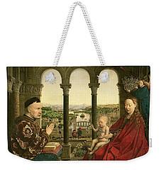 The Rolin Madonna Weekender Tote Bag by Jan van Eyck