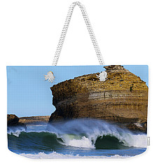 Weekender Tote Bag featuring the photograph The Wave by Thierry Bouriat