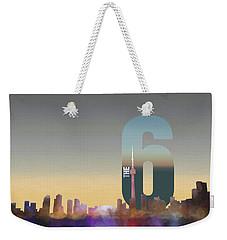 Toronto Skyline - The Six Weekender Tote Bag by Serge Averbukh