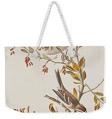 Tree Sparrow Weekender Tote Bag by John James Audubon