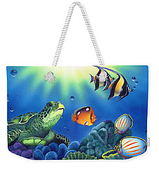 Turtle Dreams Weekender Tote Bag by Angie Hamlin