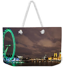 Westminster And The London Eye Weekender Tote Bag by Dawn OConnor