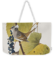 White-crowned Sparrow Weekender Tote Bag by John James Audubon