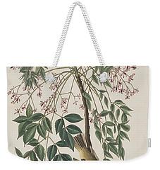 White-eyed Flycatcher Weekender Tote Bag by John James Audubon