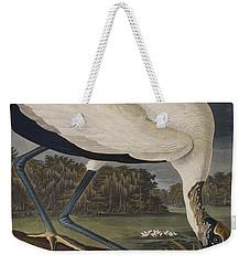 Wood Ibis Weekender Tote Bag by John James Audubon