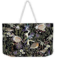 Woodland Edge Birds Weekender Tote Bag by Jacqueline Colley