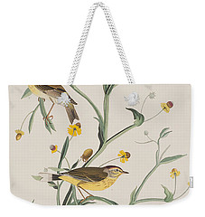 Yellow Red-poll Warbler Weekender Tote Bag by John James Audubon