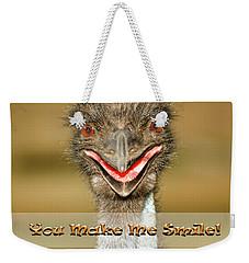 You Make Me Smile Weekender Tote Bag by Carolyn Marshall