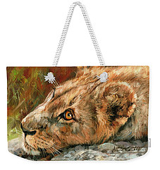 Young Lion Weekender Tote Bag by David Stribbling