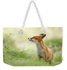 Zen Fox Series - Zen Fox Weekender Tote Bag by Roeselien Raimond