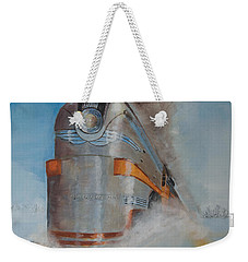 104 Mph In The Snow Weekender Tote Bag by Christopher Jenkins