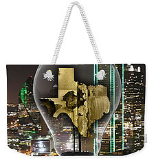 Texas State Map Collection Weekender Tote Bag by Marvin Blaine