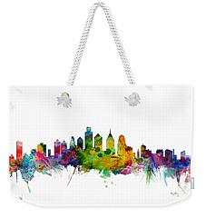 Philadelphia Pennsylvania Skyline Weekender Tote Bag by Michael Tompsett