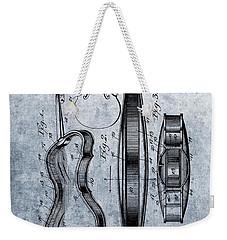 1899 Violin Blue Patent Weekender Tote Bag by Dan Sproul
