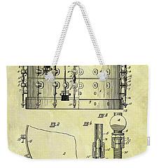 1900 Band Drum Patent Weekender Tote Bag by Dan Sproul