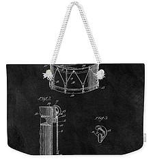 1905 Drum Patent Illustration Weekender Tote Bag by Dan Sproul
