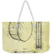 1908 Drum Patent Weekender Tote Bag by Dan Sproul