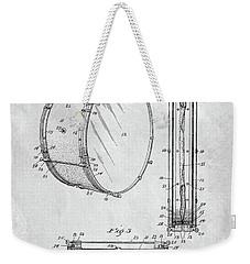 1908 Drum Patent Illustration Weekender Tote Bag by Dan Sproul