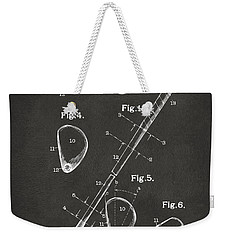 1910 Golf Club Patent Artwork - Gray Weekender Tote Bag by Nikki Marie Smith