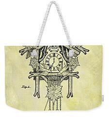 1912 Cuckoo Clock Patent Weekender Tote Bag by Dan Sproul