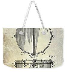 1912 Ludwig Drum Patent  Weekender Tote Bag by Jon Neidert