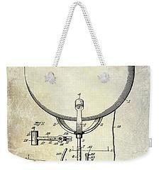 1913 Ludwig Drum Patent  Weekender Tote Bag by Jon Neidert