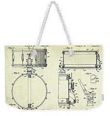 1939 Slingerland Snare Drum Patent Sheets Weekender Tote Bag by Gary Bodnar