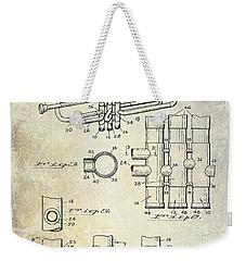 1939 Trumpet Patent Weekender Tote Bag by Jon Neidert