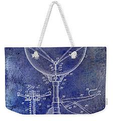 1941 Ludwig Drum Patent Blue Weekender Tote Bag by Jon Neidert