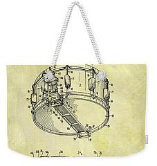 1963 Drum Patent Weekender Tote Bag by Dan Sproul