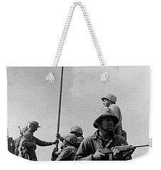 1st Flag Raising On Iwo Jima  Weekender Tote Bag by War Is Hell Store