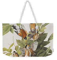 American Robin Weekender Tote Bag by John James Audubon