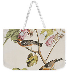 Bay Breasted Warbler Weekender Tote Bag by John James Audubon