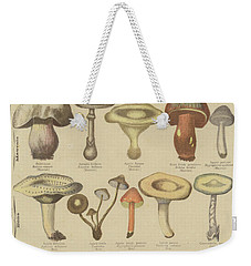 Edible And Poisonous Mushrooms Weekender Tote Bag by French School