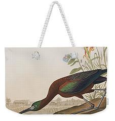 Glossy Ibis Weekender Tote Bag by John James Audubon