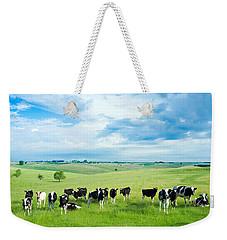 Happy Cows Weekender Tote Bag by Todd Klassy