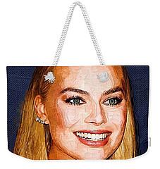 Margot Robbie Art Weekender Tote Bag by Best Actors