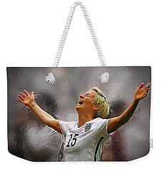 Megan Rapinoe Weekender Tote Bag by Semih Yurdabak