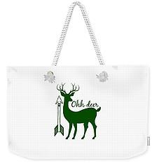 Ohh Deer Weekender Tote Bag by Chastity Hoff