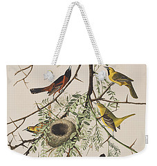 Orchard Oriole Weekender Tote Bag by John James Audubon