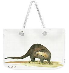 Otter Weekender Tote Bag by Juan Bosco