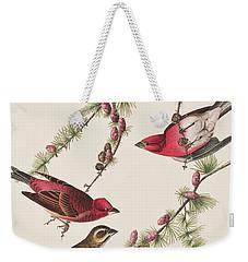Purple Finch Weekender Tote Bag by John James Audubon