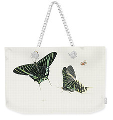 Studies Of Two Butterflies Weekender Tote Bag by Anton Henstenburgh